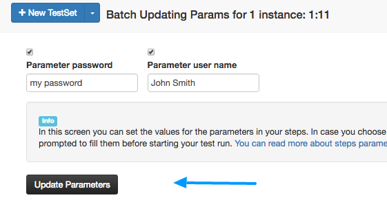 updating parameters