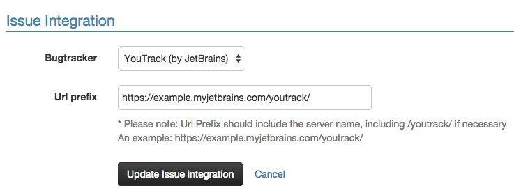 YouTrack Integration Settings