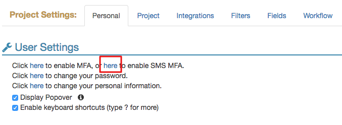 enable SMS MFA
