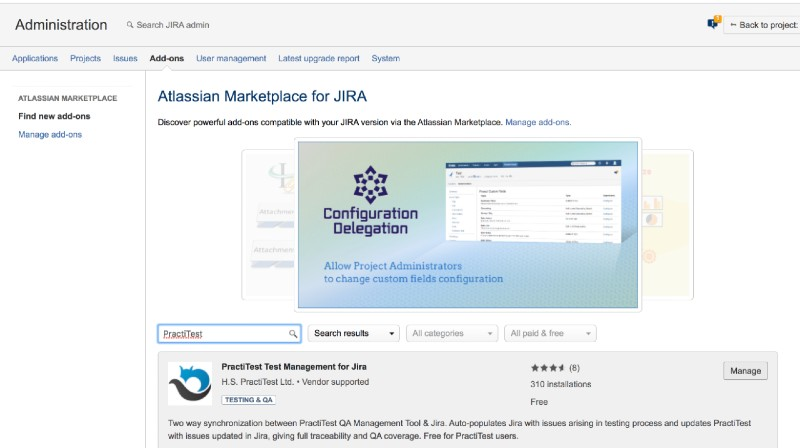 Find new addons Atlassian Marketplace