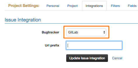 Gitlab integration set up
