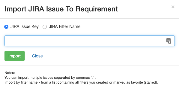 Import requirements from Jira