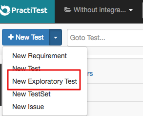 New Exploratory Test