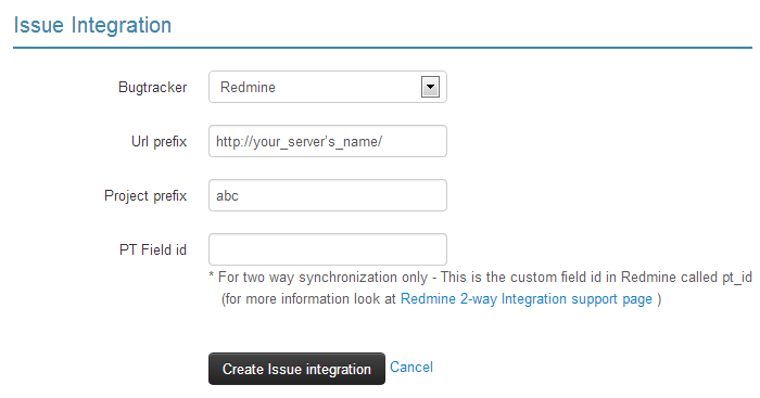 Redmine integrartion